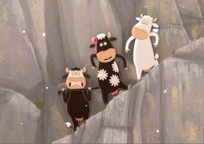 Le Quatuor à cornes, Là-haut sur la montagne